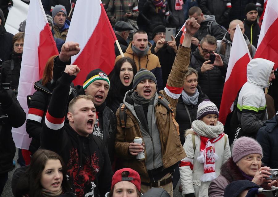 uczestnicy marszu