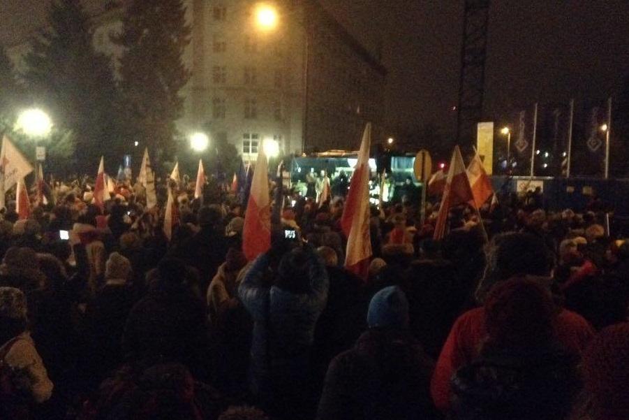 Relacja wideo sprzed Sejmu
