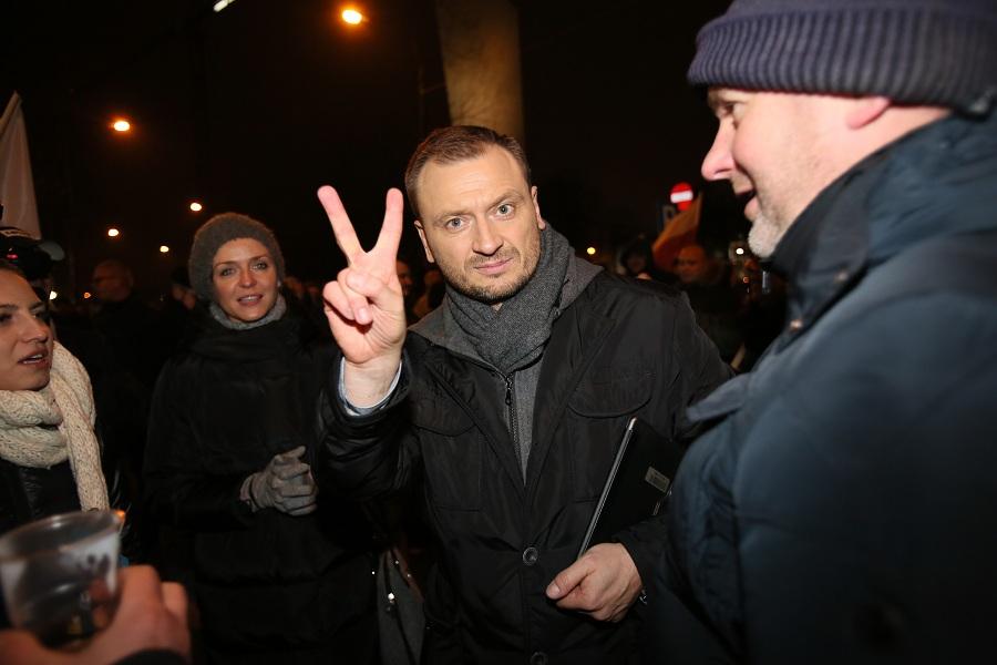 Opozycja razem na manifestacji