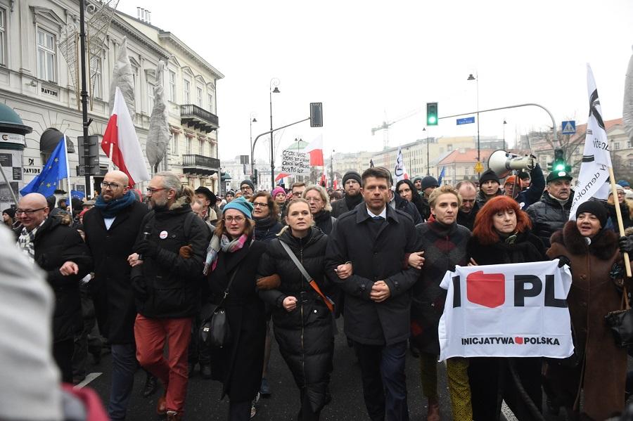 Protest przed Pałacem