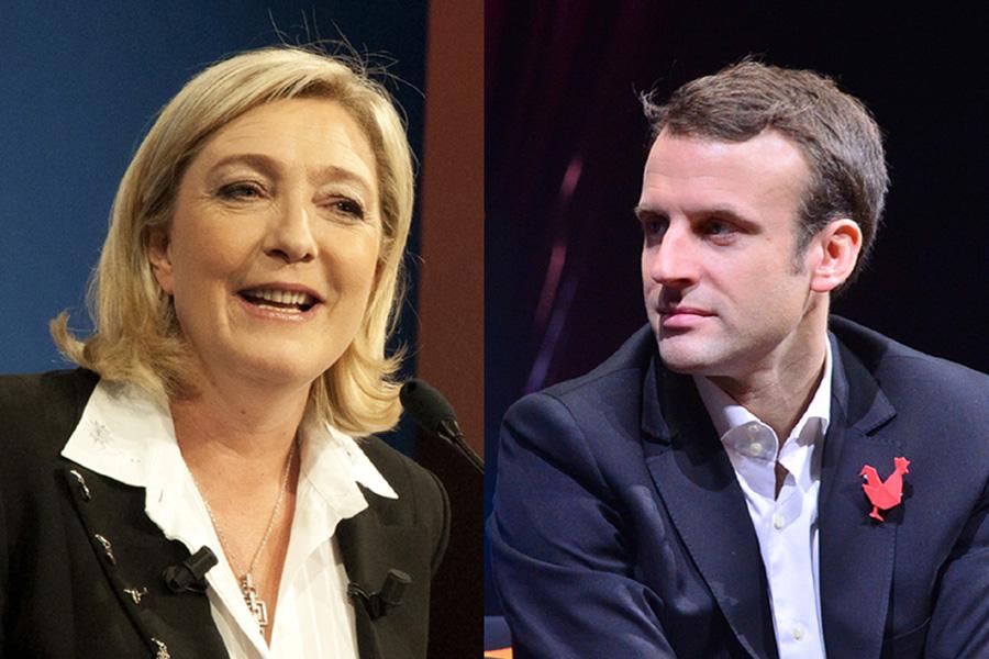 Marine Le Pen i Emmanuel Macron w II turze