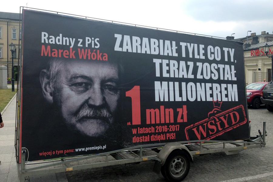 """Kolejna edycja Konwoju Wstydu. """"Kolektura PiS"""""""