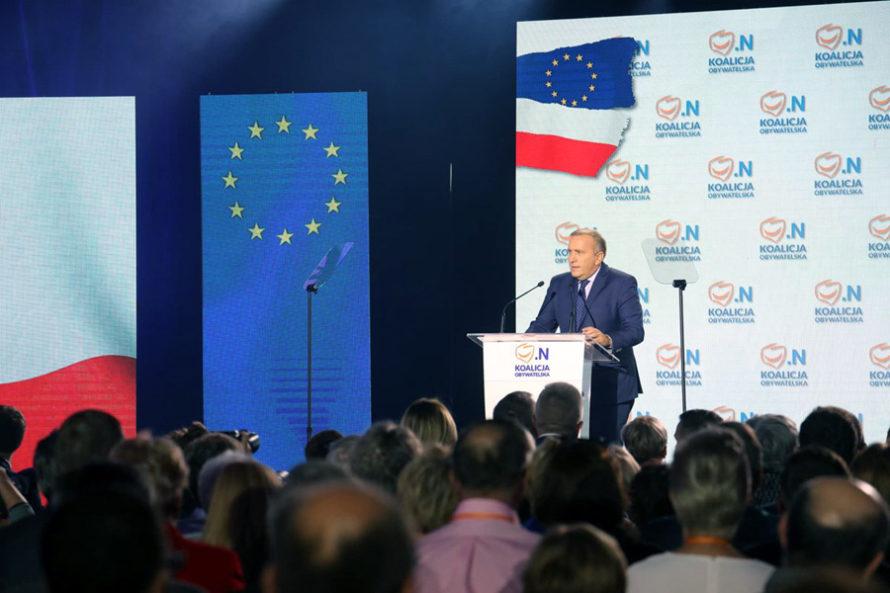 """Konwencja Koalicji Obywatelskiej. """"Idźmy nawybory iwalczmy oprzyszłość Polski"""""""