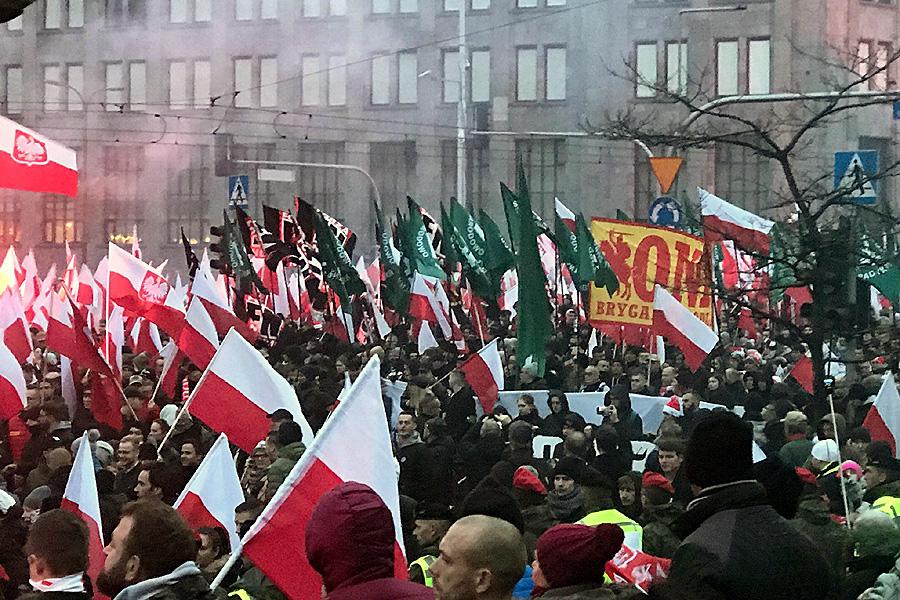 Marsz PiS z faszyzmem w tle