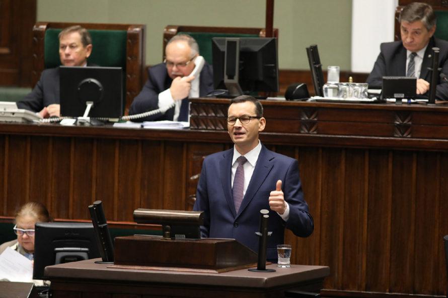 Wystąpienie Morawieckiego wSejmie. Propaganda sukcesu dla twardego elektoratu
